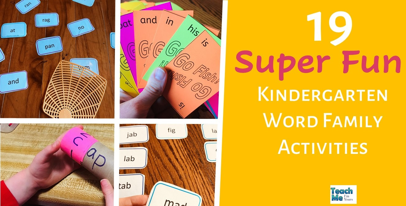 Fun Word Family Activities For Kindergarten Teach Me I M Yours